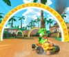 The icon of the Yoshi Cup challenge from the New Year's Tour and the Shy Guy Cup challenge from the Mario vs. Luigi Tour in Mario Kart Tour