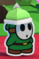 A Green Spike Guy from Paper Mario: Color Splash.
