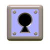 Warp Box (With Key) icon from Super Mario Maker 2 (Super Mario 3D World style)
