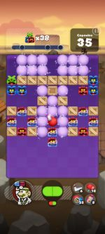 Stage 215 from Dr. Mario World since version 2.0.0
