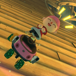 Female Villager performs a trick.