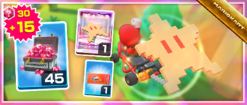 The 8-Bit Star Pack from the Super Mario Kart Tour in Mario Kart Tour
