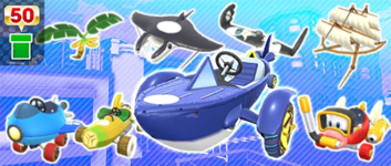 The Beachside Pipe from the Los Angeles Tour in Mario Kart Tour