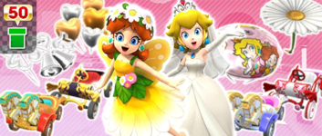 The Princess Pipe from the Sunset Tour in Mario Kart Tour