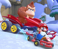 The icon of the Ice Mario Cup challenge from the Snow Tour in Mario Kart Tour