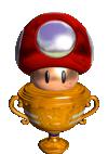 Mushroom Cup trophy in Mario Tennis Aces