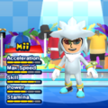 Silver the Hedgehog Mii Costume in the game Mario & Sonic at the London 2012 Olympic Games for the Wii.