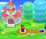 Mario near Peach's Castle in World 1