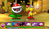 Screenshot of World 2-2, from Puzzle & Dragons: Super Mario Bros. Edition.