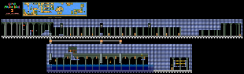 Map in the SNES version