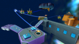 """A screenshot of Chompworks Galaxy during the """"Spring into the Chompworks"""" mission from Super Mario Galaxy 2."""