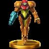 Samus's trophy, from Super Smash Bros. for Wii U.