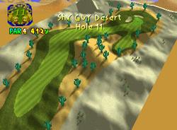 Hole 11 of Shy Guy Desert from Mario Golf