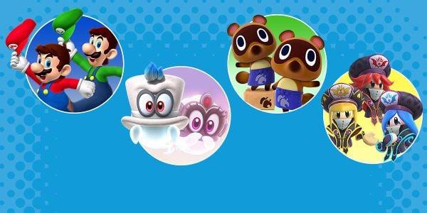 Banner for a Play Nintendo opinion poll on video game siblings. Original filename: <tt>2x1_SiblingsPoll_v02.0290fa98.jpg</tt>