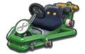 Thumbnail of a green Pipe Frame (with 8 icon), in Mario Kart 8.