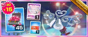 The Silver Bells Pack from the Wedding Tour in Mario Kart Tour