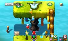 The Splart minigame in both versions of Mario & Luigi: Superstar Saga