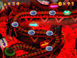 World 6 in the Mini-Game Coaster in the game Mario Party 2.
