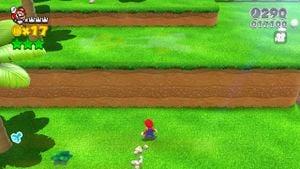 Luigi sighting in Plessie's Dune Downhill in Super Mario 3D World.