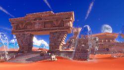 Sand Kingdom artwork from Super Mario Odyssey.