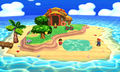 The Tortimer Island stage in Super Smash Bros. for Nintendo 3DS.