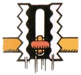 Artwork of a Tatenoko, from Super Mario Land 2: 6 Golden Coins.