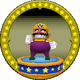 A figure with Wario on it.