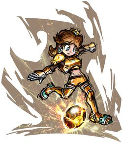 Princess Daisy in Mario Strikers Charged.