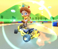 The icon of the Iggy Cup challenge from the Vancouver Tour and the Luigi Cup challenge from the Berlin Tour in Mario Kart Tour