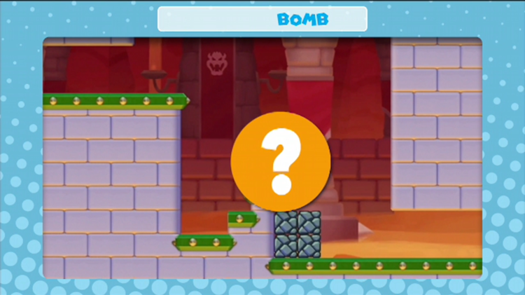 A frame of the video shown with the first question in Mini Mario & Friends: amiibo Challenge Trivia Quiz