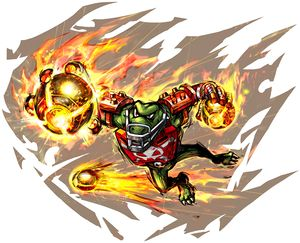Kritter's artwork from Mario Strikers Charged.