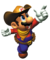 Artwork of Mario dressed as a cowboy, from Mario Party 2.