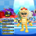 Bowser Mii Costume in the game Mario & Sonic at the London 2012 Olympic Games for the Wii.