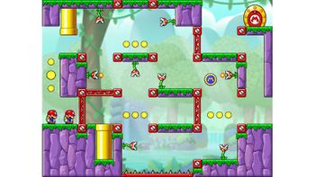 Miiverse screenshot of the 58th official level in the online community of Mario vs. Donkey Kong: Tipping Stars