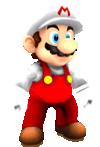 Rendered model of Fire Mario in Super Mario Galaxy.