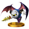Meta Knight's trophy render from Super Smash Bros. for Wii U