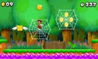 Mario Performing the spiderweb glitch.
