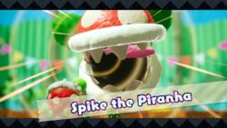 Spike the Piranha's splash screen.