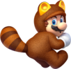 Artwork of Tanooki Mario from Super Mario 3D World.