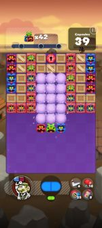 Stage 203 from Dr. Mario World since version 2.0.0