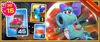 The Birdo (Light Blue) Pack from the Vancouver Tour in Mario Kart Tour