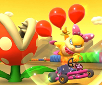 The icon of the Wendy Cup challenge from the Pirate Tour in Mario Kart Tour.