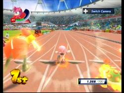 100m in Mario & Sonic at the London 2012 Olympic Games for Wii