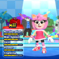 Amy Rose Mii Costume in the game Mario & Sonic at the London 2012 Olympic Games for the Wii.