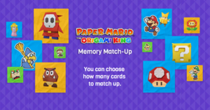 Paper Mario: The Origami King Memory Match-Up