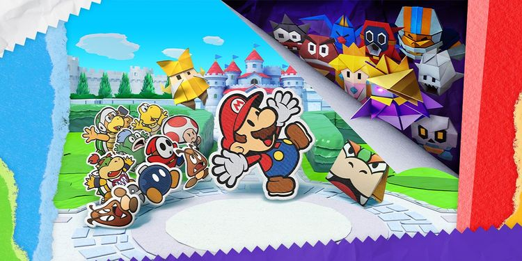 The picture shown with the first question in Paper Mario: The Origami King Trivia Quiz