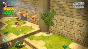 8-bit Luigi found in Spike's Lost City in Super Mario 3D World.