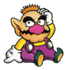 A Sticker of Tiny Wario (from Virtual Boy Wario Land) in Super Smash Bros. Brawl.