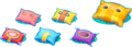 Colored Pillow Artwork (alt) - Mario & Luigi Dream Team.png
