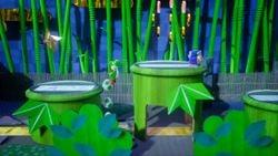 Deceptive Doors, the first level of Ninjarama in Yoshi's Crafted World.
